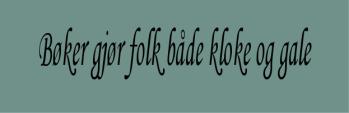Bøker - klok | edgeofaword