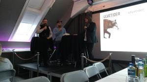 Lars Lent og Petter Bøckman ved forlagstreff for Juritzen og Vega forlag | edgeofaword